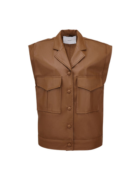 Rhoen Leather Vest - Brown
