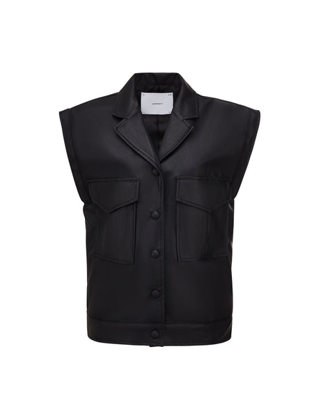 Rhoen Leather Vest - Black