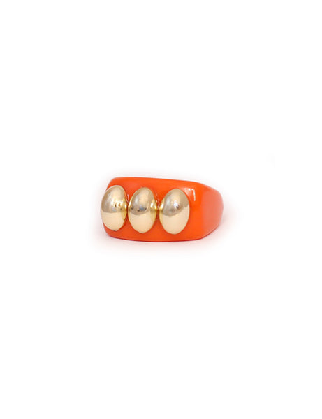 La Manso - Orange Knuckle Duster Ring