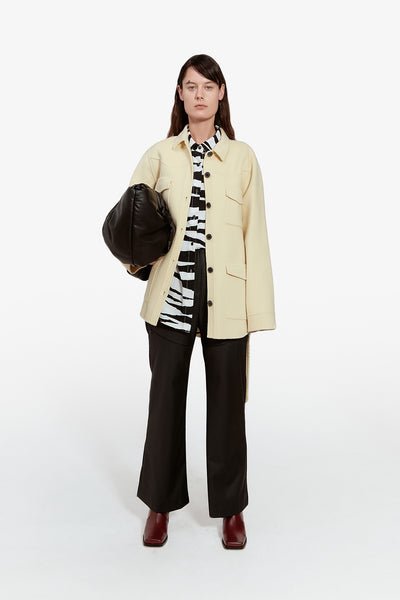 Utilitarian Belted Jacket - Yellow