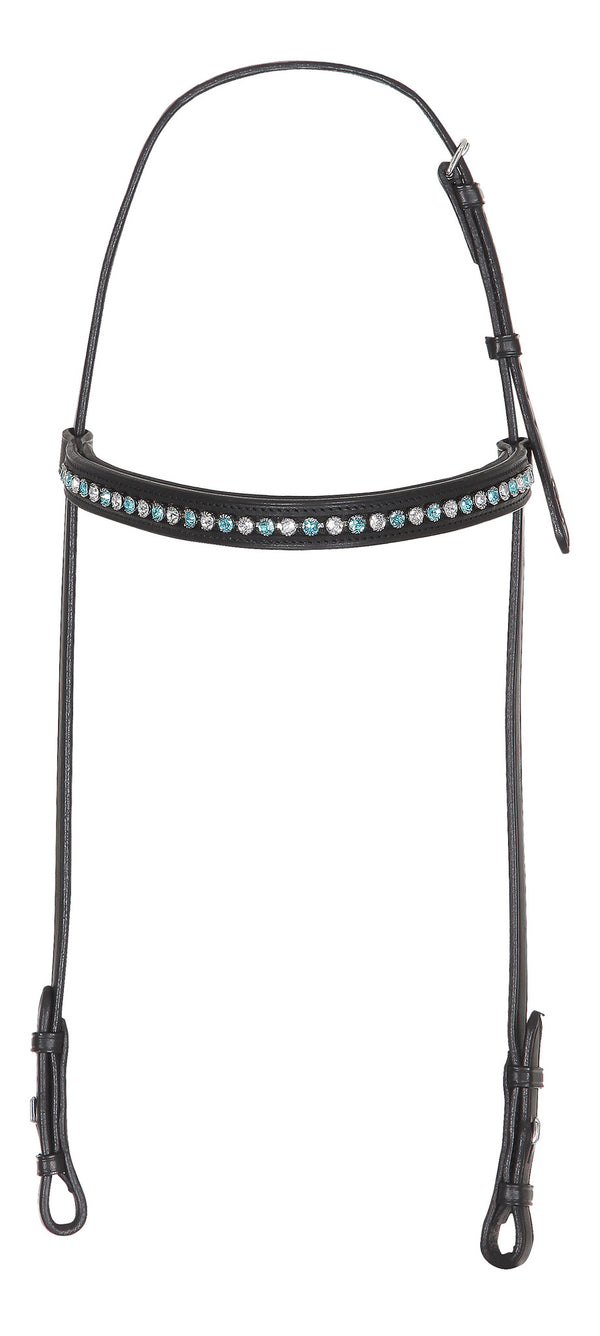Light Turquoise and Clear Crystal - Comfort Fit nakkestykke med krystaller fra Swarovski®