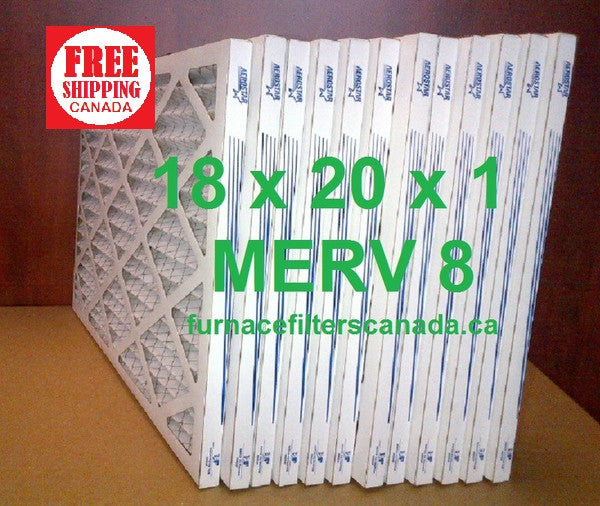 18x20x1 MERV 8 standard efficiency furnace filters Canada