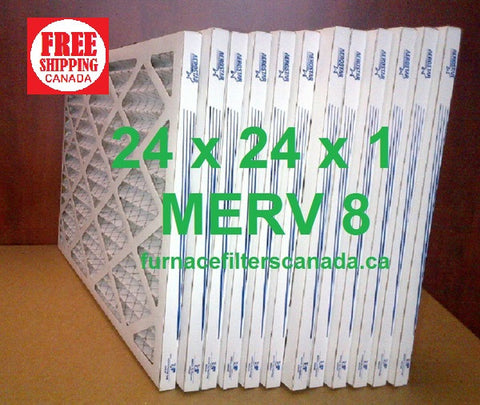 24x24x1 MERV 8 standard efficiency furnace filters Canada