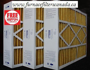 "Bryant Part No. M8-1056 20 1/4"" x 25 3/8"" x 5 1/4"" Furnace Filters in Canada Case of 3"