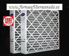 "Bryant No. FILXXCAR0024 / FILBBCAR0024 19 7/8"" x 24 3/4"" x 4 3/8"" MERV 8 Furnace Filters Canada Case of 2"