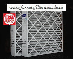 "Carrier / Bryant Part No. FILXXCAR0020 MERV 8 19 7/8"" X 24 3/4"" X 4 3/8"" Furnace Filters Canada Pack of 2"