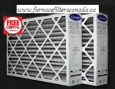"Carrier / Bryant Part No. FILXXCAR0016 MERV 8 15 7/8"" X 24 3/4"" X 4 3/8"" Furnace Filters Canada Pack of 2"