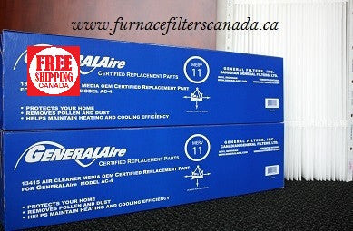 GeneralAire Part No. 13415 High Allergy Efficiency MERV 11 Expandable Furnace Filters Pack of 2