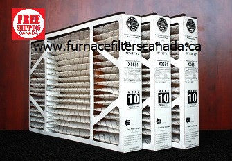 Lennox Healthy Climate Part No. X0581 16 x 25 x 3 MERV 10 Furnace Filters Box of 3