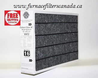 Lennox Healthy Climate Part# X6672 16 x 25 x 5 Carbon Clean 16 Furnace Filter
