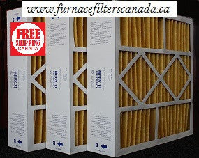 "Bryant Part No. M2-1056  20 1/4"" x 20 3/4"" x 5 1/4"" Furnace Filters in Canada Case of 3"