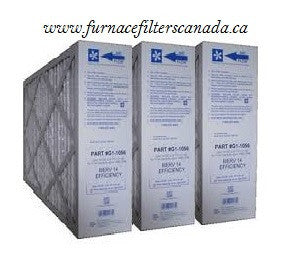 York Part No. G1-1056 15-1/4 x 25-1/2 x 5-1/4 MERV 14 Furnace Filters Case of 3