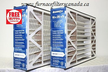 York / Source 1 Part # S1-MAC 10162505 16 x 25 x 5 MERV 10 Furnace Filters Pack of 2