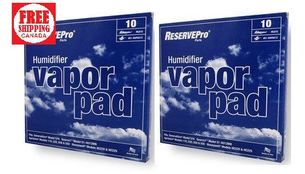 ReservePro Part# GA10 Humidifier Vapor Pad Pack of 2