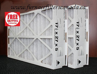 "OEM Trane Part No. FLR 06069 17 1/2 x 27 x 5 ""Perfect Fit Air-Tite Enclosures"" Furnace Media Filters"