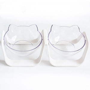 Transparent cat bowl