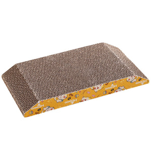 Trapezoidal corrugated cat scratching board