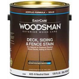 Acrylic Latex Deck Stain, Solid-Color Neutral Base, 1-Gallon