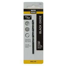 Drill Bit, Black Oxide, 11/64 x 3-1/4-In.