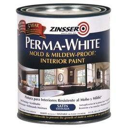 Mold & Mlidew Proof Interior Paint, White Satin, Quart