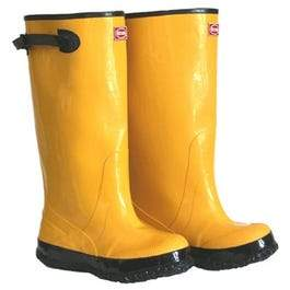 17-In. Waterproof Yellow Boots, Size 15