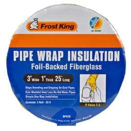 Pipe-Wrap Insulation Kit, Fiberglass , 1 x 3-In. x 25-Ft.