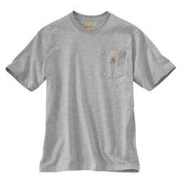 Pocket T-Shirt, Heather Gray, Large