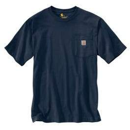 Pocket T-Shirt, Navy, Large