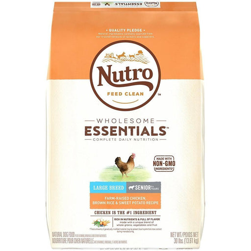 Nutro Wholesome Essentials Large Breed Senior Farm-Raised Chicken, Brown Rice & Sweet Potato Dry Dog Food
