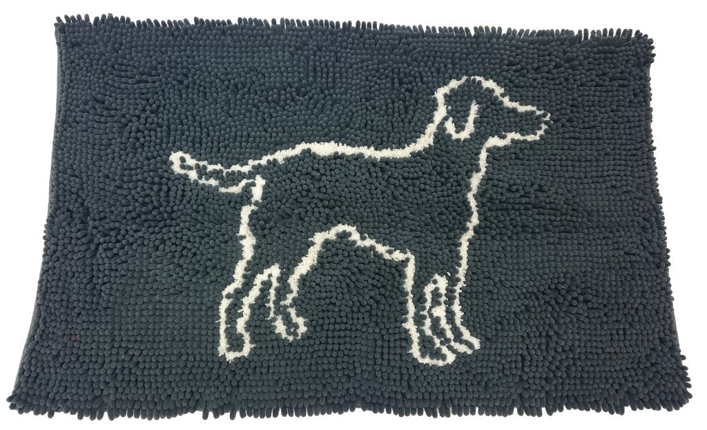 CLEAN PAWS MAT GREY 35X24