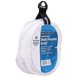 5/16-Inch x 50-Ft. Silvery White Solid Braided Nylon Cord