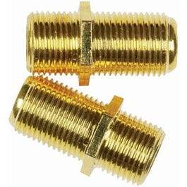 Feed Thru Coaxial Cable Coupler, 2-Pk.