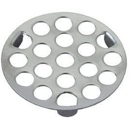 3-Prong Snap-In Drain Strainer, 1-5/8-In. Diameter, Metal Chrome