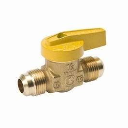 Gas Ball Valve, Forged Brass, 1/2 x 1/2-In.