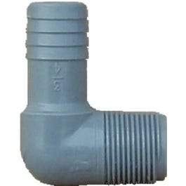 Pipe Fitting, Insert Elbow, Plastic, 1-1/2 x 1-1/2-In. MIP