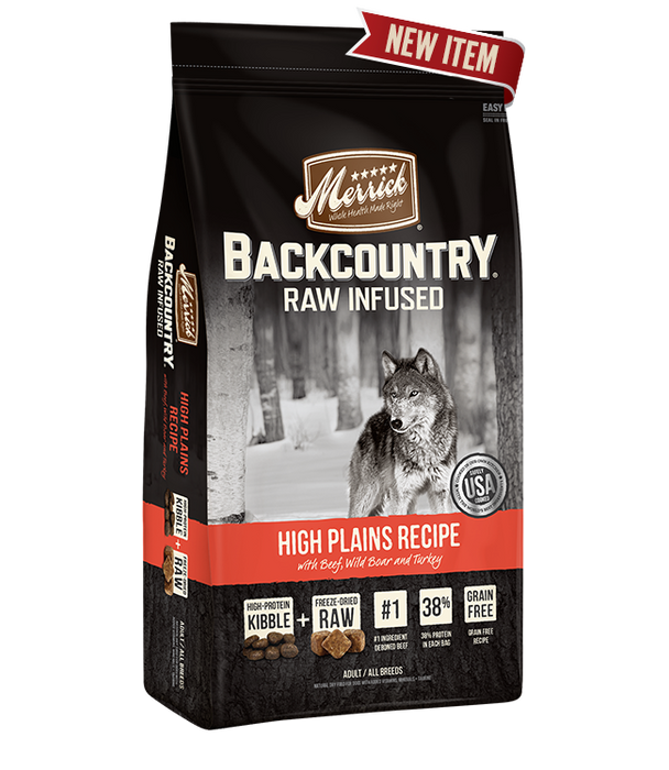 Merrick Backcountry - Raw Infused - High Plains Dog Food Recipe