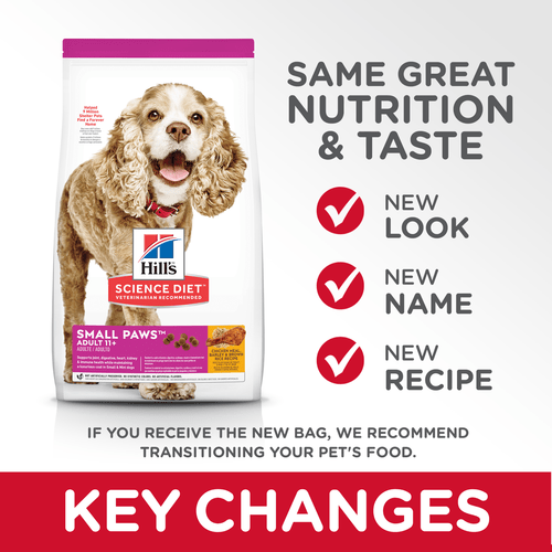 Hill's® Science Diet® Adult 11+ Small Paws™ dog food