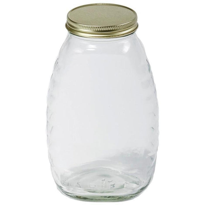 LITTLE GIANT GLASS HONEY JAR WITH LID