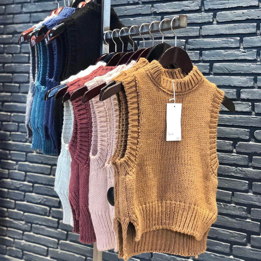 Chunky knitted vests