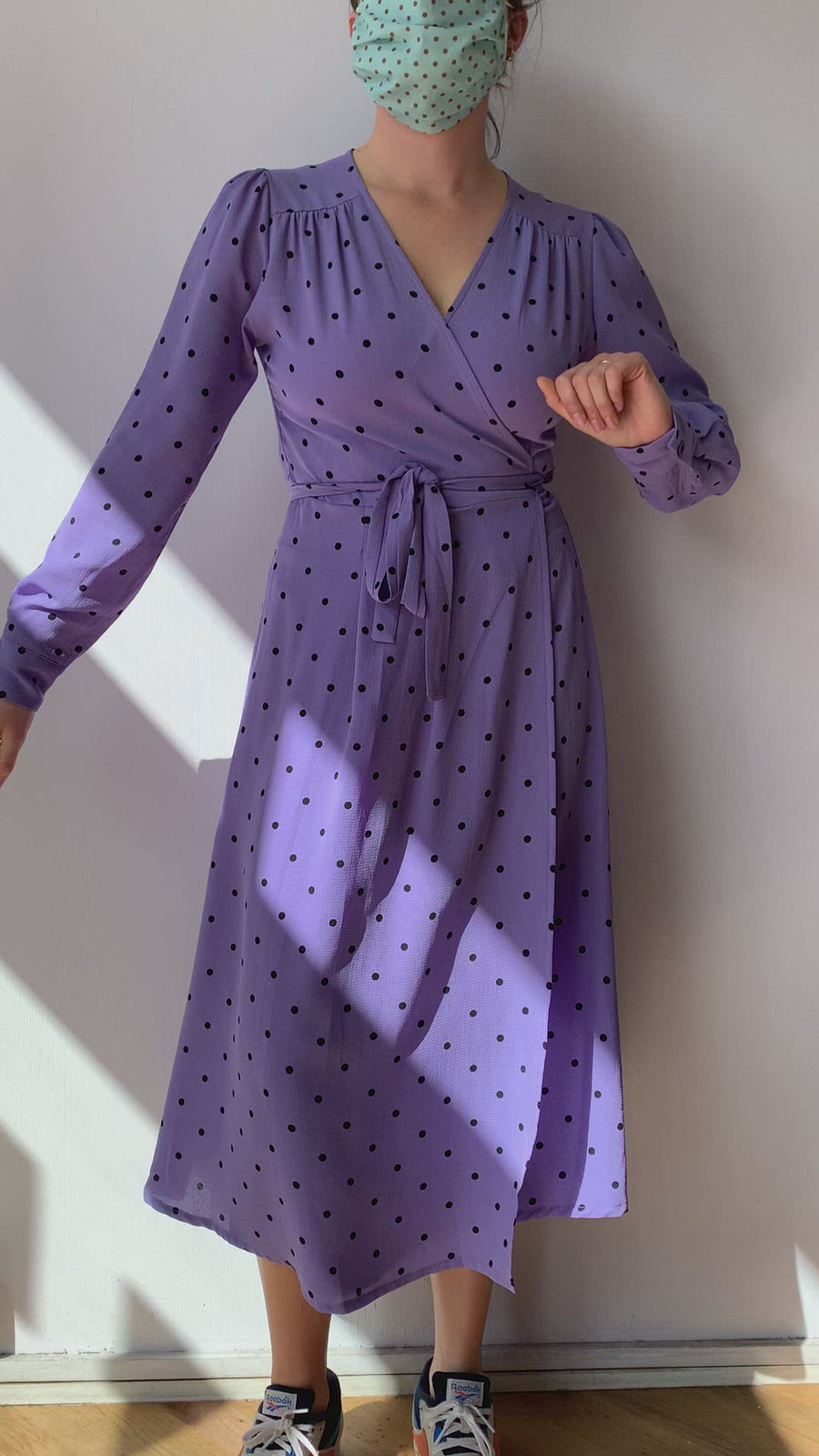 Vera Wrap Dress Lavender Long