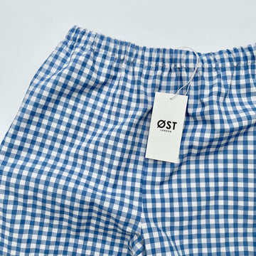 Gingham trousers blue