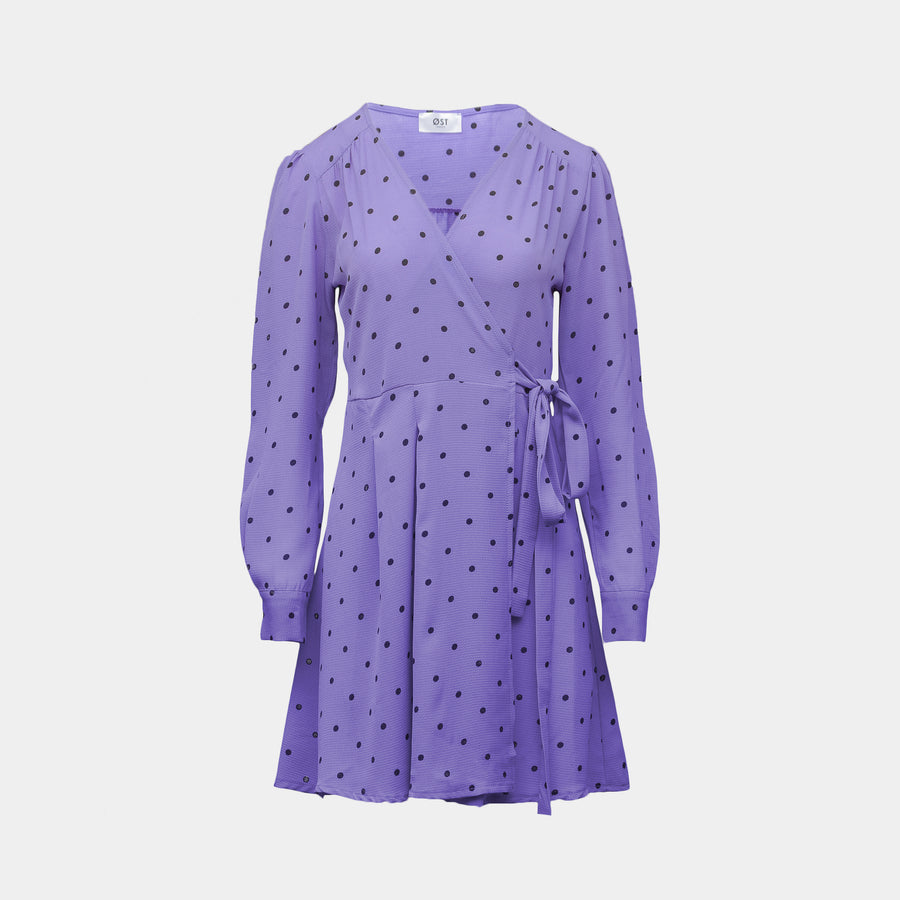 Vera Wrap Dress Short Lavender
