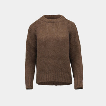 Brown mohair sweater