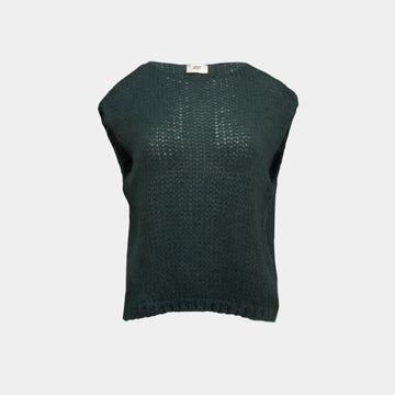 Knitted green vest