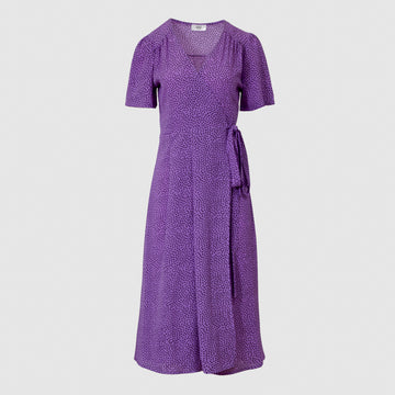 Vera Wrap Dress Long -Purple