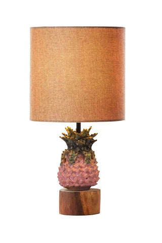 Hand-made Pineapple Ceramics Lamp