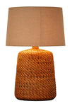 Rattan Table Lamp, Hand Woven