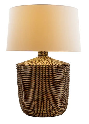 Seagrass Table Lamp, Hand Woven