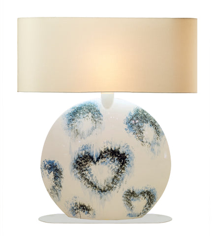 Splashed Hearts Lamp