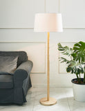 Wooden Pulse Floor Lamp